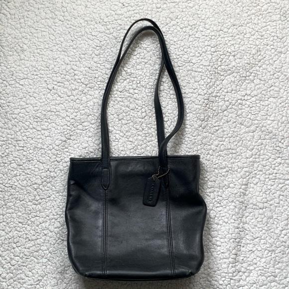Coach Handbags - Vintage Coach Black Leather Lunch Tote